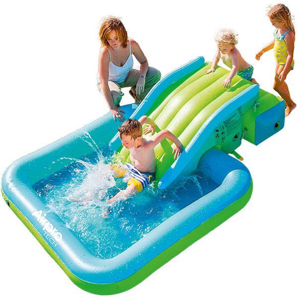 Piscina con scivolo gonfiabile 22062145 giochimpara srl - Scivolo gonfiabile per piscina ...