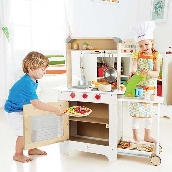 Cucina Con Carrello Hape E3126 Giochimpara Srl
