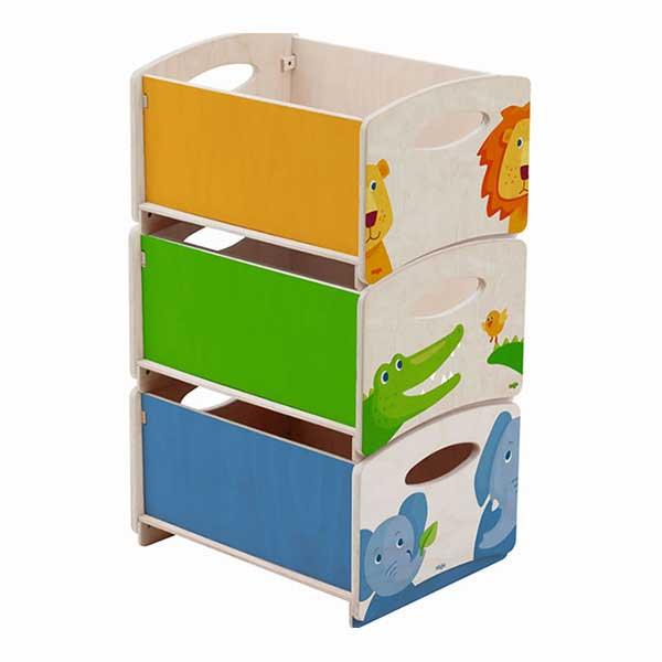 Contenitori portagiochi impilabili zoo haba ha7634 for Contenitori per giocattoli ikea