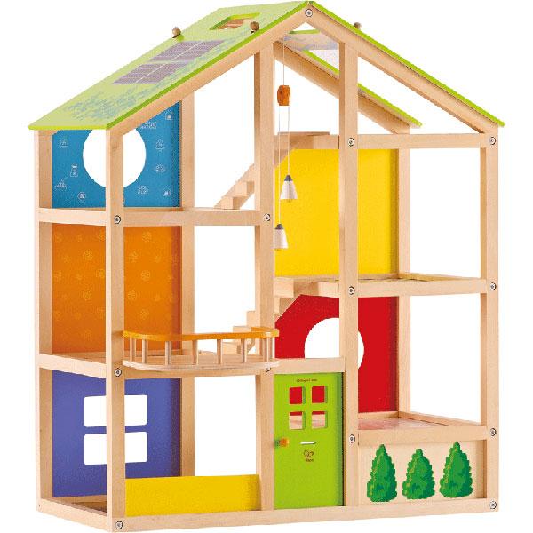 Casa in legno per bambole quattro stagioni non arredata for Piani di camera di tre stagioni