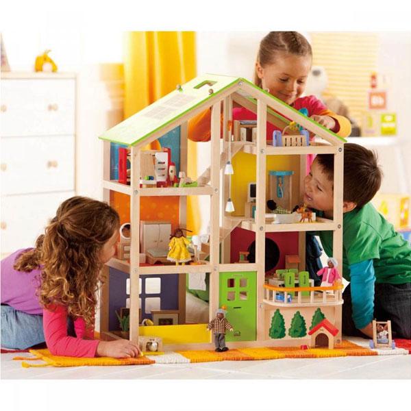 Casa in legno per bambole 4 stagioni ammobiliata e3401 - Casa ammobiliata ...