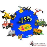 Promozione Rolly Toys. In luglio sconto del 15%