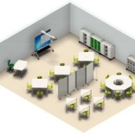Esempio rendering - Aule 3.0 - Laboratori - Atelier